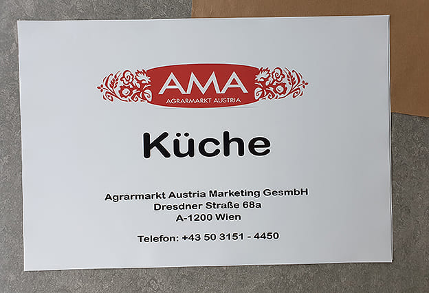Aufkleber AMA Digitaldruck