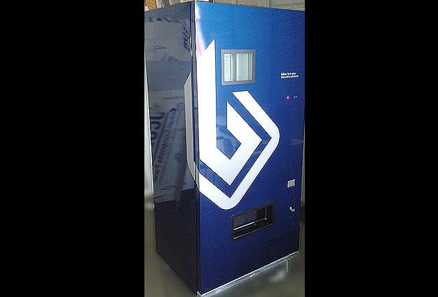 Beklebung Automat Werbetechnik
