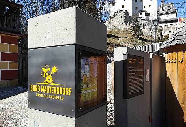 Beschilderung Burg Mauterndorf