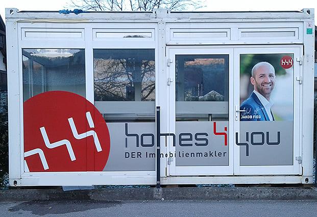 Beschriftung Baucontainer Homes 4you