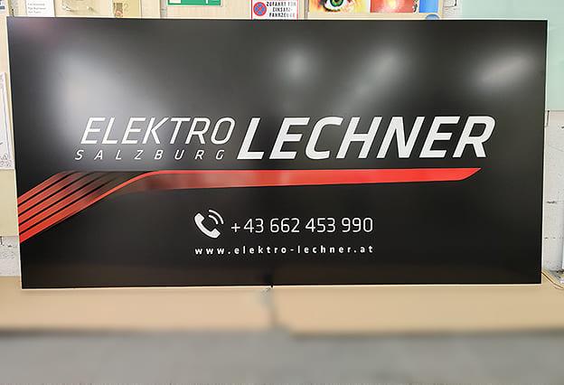 Firmenschild Elektro Lechner