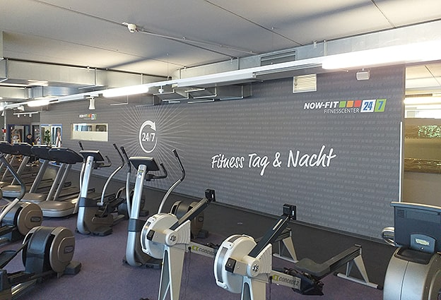 Digitaldruck Fitnessstudio