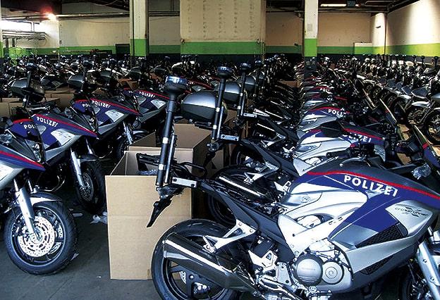 Polizei Motorräder Fuhrpark