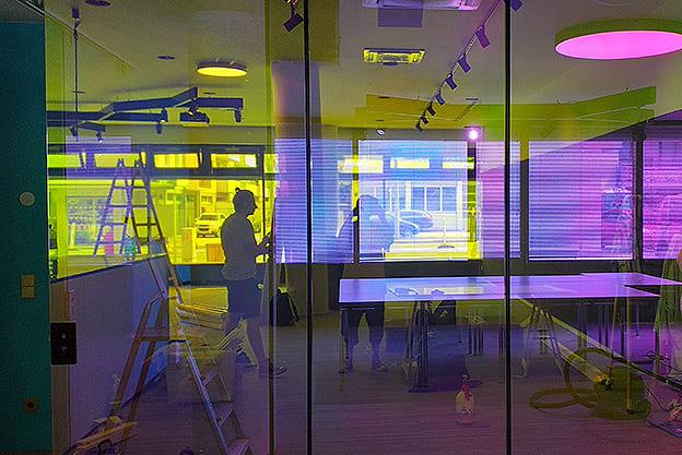 Regenbogenfarben Glasdekorfolie Sichtschutz