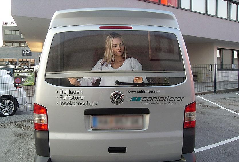 Lochfolie Firmenauto