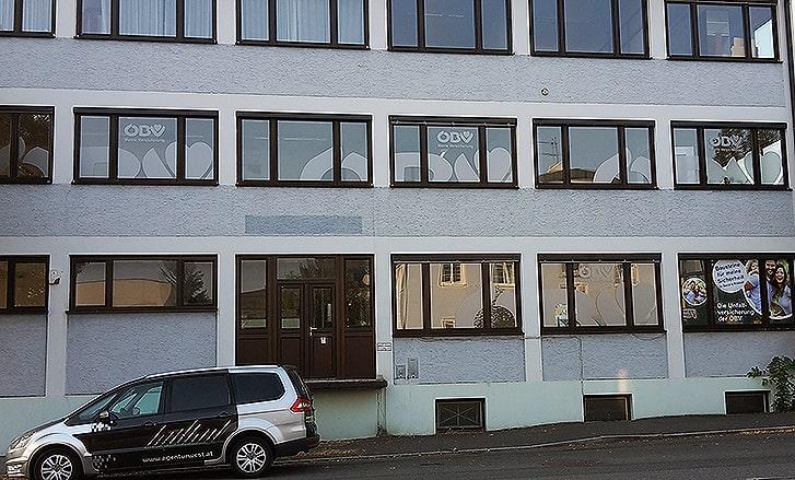 Fensterbeschriftung Zentrale ÖBV
