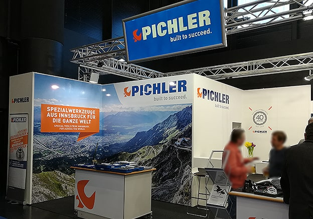 Messestand Pichler Digitaldruck Klebetexte