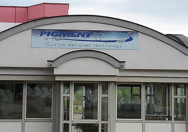 Schild Firmenschild Pigment Solution