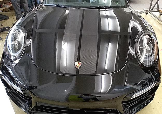 Motorhaube Porsche Steinschlagschutz Design