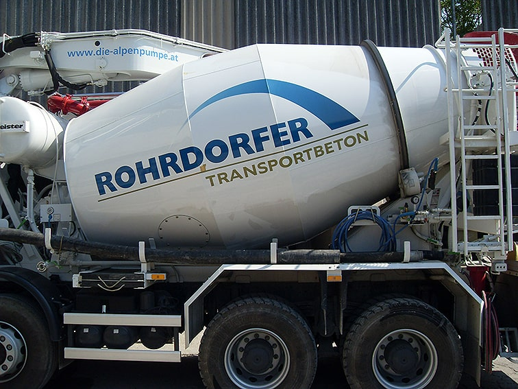 Mischmaschine Beschriftung Klebetext Rohrdorfer