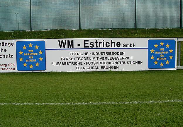 Fußballplatzschild
