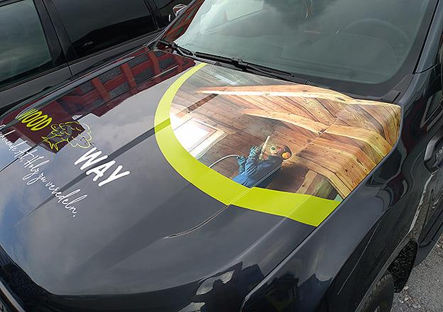 Digitaldruck Motorhaube Woodway Ranger