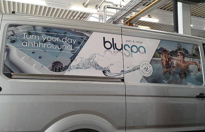Digitaldruck Fahrzeug bluspa