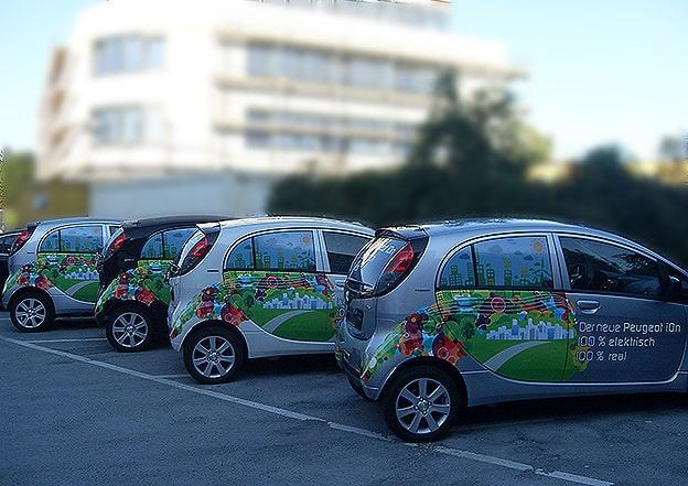 Digitaldruck Teilfolierung Peugeot