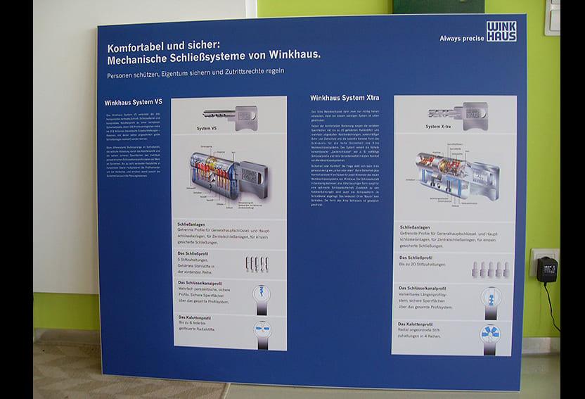 Tafel Winkhaus Digitaldruck